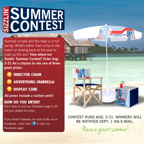 Sizzlin' Summer Contest from Tex Visions!