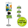 Poster Stand with Brochure & Tablet Holders