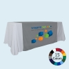 Colored Accent Table Runner with Logo Print
