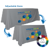 Colored Convertible Table Throw with Logo Print