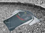 Fan Banners are large, custom shaped prints carried by a group of people for advertising at a distance.