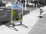 Sidewalk Displays feature a simple construction that allows your client to reuse them again and again.