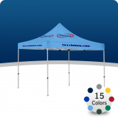 A canopy with area imprint provides a cost effective option