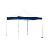 Canopy with Valance Print for generating brand awareness