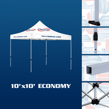 10' x 10' Economy canopy offered in steel finish.