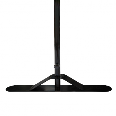 Hardware stand features stable feet.