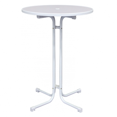 White Bistro Tables are easily assembled in minutes with no tools required.