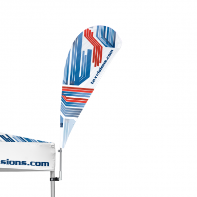 The Advertising Tent Bowflag® Drop 90° is easily attached to any advertising tent leg  sc 1 st  Tex Visions & Advertising Tent Bowflag® 90° | Custom Canopy Tent Flags