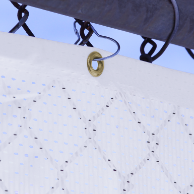 Pear Snap Hooks easily snap onto chain link fences for an easy mounting tool.