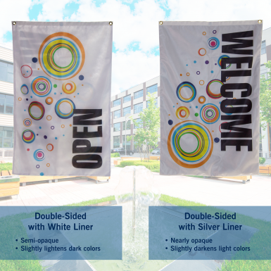 Choose the flag liner that works best for your customer's design.