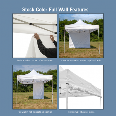 Features of our stock color walls (excluding white 20.5ft wall)