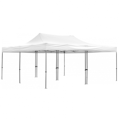 Advertising Tent 20' x 20 with white canopy and optional walls.