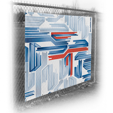 Fence Wrap printed on Vinyl Mesh 12oz material.