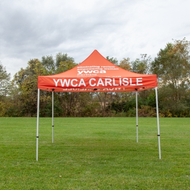 A custom tent made for the local YWCA.