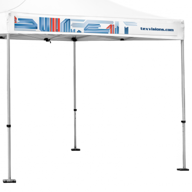 Perfect for clients with small budgets who want to update the look of their advertising tent & Ez Up Canopy or Advertising Tent Interchangeable Valance Banner