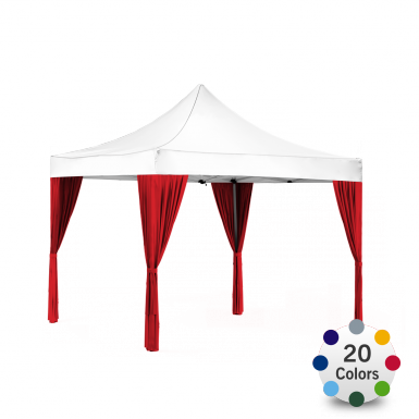 Decorative Curtains for Ez Up Advertising Tent