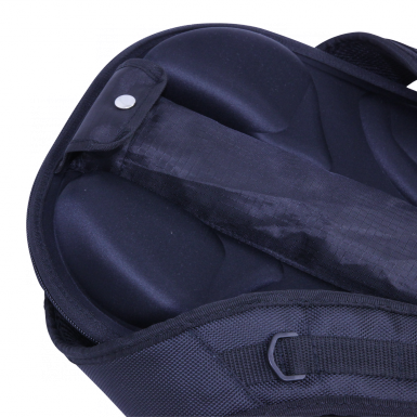 Tex Visions' Backpack Walking Billboard features adjustable straps that are padded for comfort.