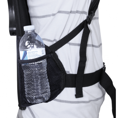 The side pockets of the Backpack Walking Bowflag® can store anything from a water bottle to business cards.