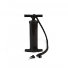 Optional manual pump can be used for inflation and deflation.