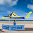 If your client is taking their tent on the beach, the Advertising Tent Bowflag® 30° is a great way to draw extra attention.
