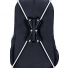 The fiberglass poles are inserted into the backpack to form an X shape that keeps the custom print taut.