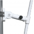 The included pole holder bracket set is used to secure the hardware to a street lamp for display.