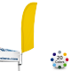 Advertising Tent Bowflag® 90° in Stock Colors