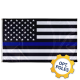 Thin Blue Line Flag w/ Optional Flagpole