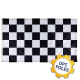 Checkered Flag w/ Optional Flagpole
