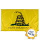 Don't Tread On Me Flag w/ Optional Flagpole