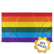 Rainbow Flag w/ Optional Flagpole