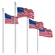 USA Flag w/ Optional Flagpole