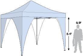 Advertising Tent Corner Banners wrap around the tent leg