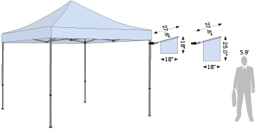 Two sizes are available for the Advertising Tent Flag