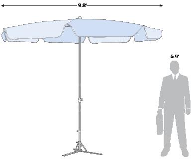 Advertising Umbrella Plus 9.8'