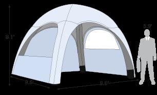 10ft x 10ft Air Tent sketch