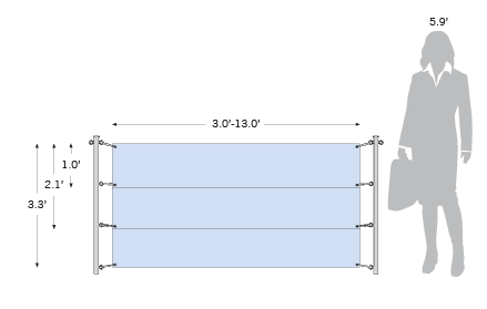 Outdoor Banner Posts with Banner display dimensions