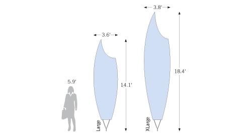 New Bowflag<sup>®</sup> Premium Scoop shape as sketch