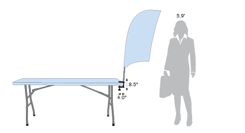 Bowflag® with Table Clamp Sketch
