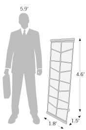 Sketch of literature holder with dimensions