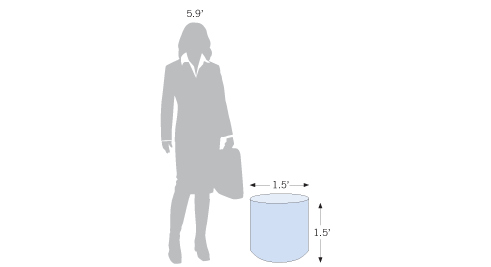 Display Cylinder made of high-density foam