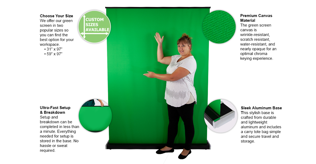 retractable green screen features