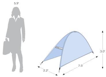 Half Moon Display sketch with dimensions
