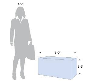 Display Lounge 3.0' (2-Seater) with size information