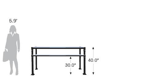 2 Pallet-To-Table models varying in height are available
