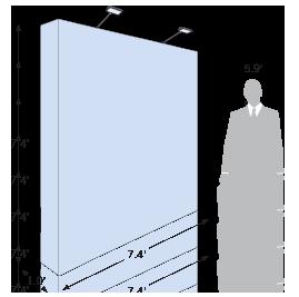 Pop Up Keder sketch with dimensions