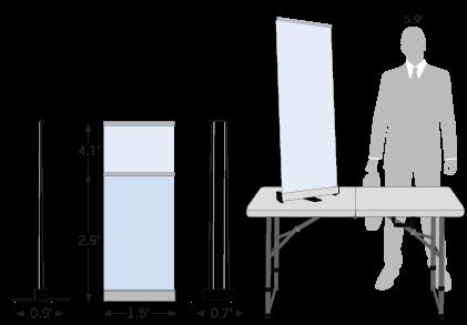 Tabletop Retractable Banner Sketch