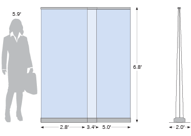Sketch of Roll Up Economy Double-Sided models
