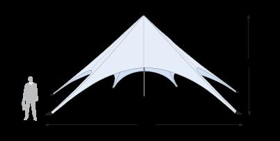 Star Tent 43' dimension details