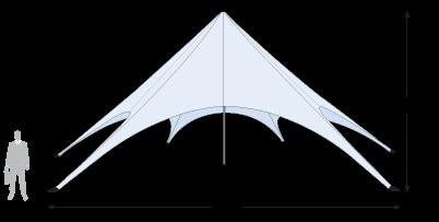 Star Tent 56' dimension details
